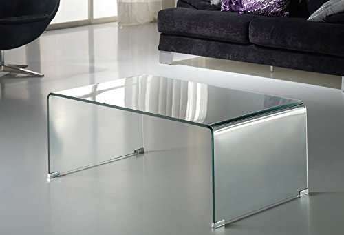 CONSOLE TRANSPARENT GLASS 75 X 90 X 40 CM