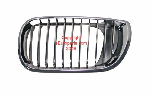 BMW e46 Sedan (02-05) OEM Kidney Grille Chrome+Chrome LEFT lh radiator vent (Front Grill Bmw 325i 2004 compare prices)