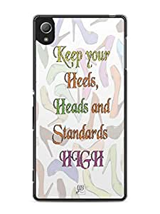 YuBingo Heels, Head and Standard High Mobile Case Back Cover for Sony Xperia Z3 Plus