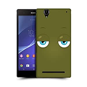 MobileGlaze Designs Expression Eyes Bored Hard Back Case Cover for SONY XPERIA T2 ULTRA / DUAL