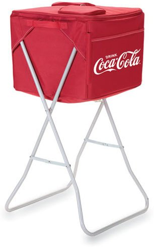 Picnic Time Coca-Cola Party Cube - Red front-173802
