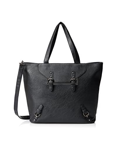 Nila Anthony Women's Studded Trapeze Tote, Black