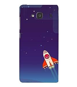 printtech Rocket Meme Sky Back Case Cover for Xiaomi Redmi 2S::Xiaomi Redmi 2::Xiaomi Redmi 2 Prime