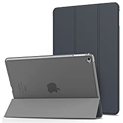 MoKo iPad Air 2 Case - MoKo Ultra Slim Lightweight Smart-shell Stand Cover with Translucent Frosted Back Protector for Apple iPad Air 2 9.7 Inch iOS 8 Tablet Space GRAY with Auto Wake Sleep
