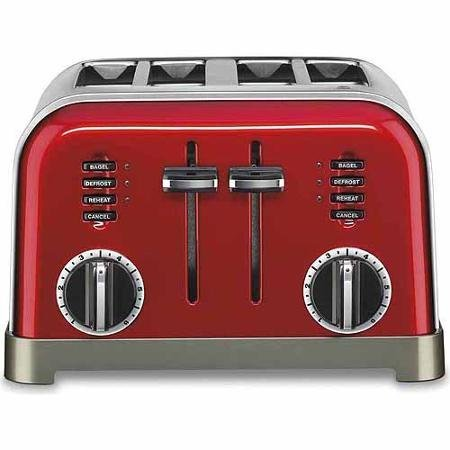 Cuisinart Metal Classic 4-Slice Toaster Red Color (4 Slice Toaster Color compare prices)