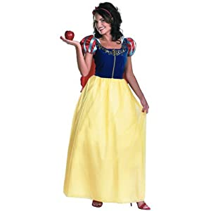 Disguise Disney Snow White Deluxe Adult Costume, Yellow/Red/Blue, Medium/8-10