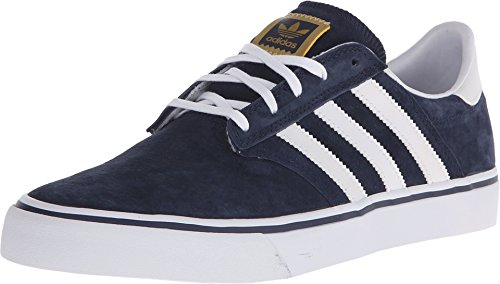 Adidas Originals Men's Seeley Premiere Fashion Sneaker, Collegiate Navy/White/White, 9.5 M US