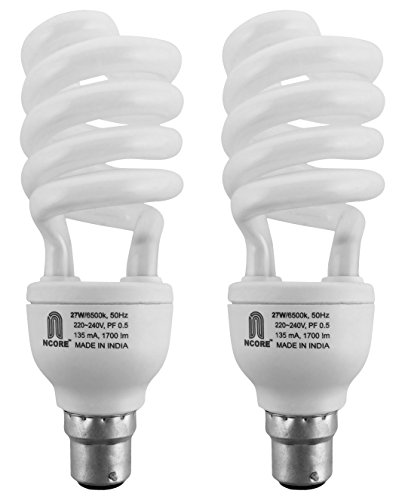 Ncore 27W B22 CFL Bulb (Cool Day Light, Pack of 2)