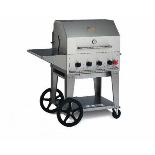 Crown Verity Stainless Steel Mobile Outdoor Charbroiler Grill with Liquid Petroleum Gas Connection, 30 inch -- 1 each.