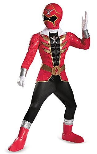 [Disguise Saban Super MegaForce Power Rangers Red Ranger Prestige Boys Costume, Small/4-6] (Power Rangers Megaforce Halloween)