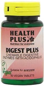 Health Plus Digest Plus Digestive Enzyme Supplement - 60 Chewable Tablets