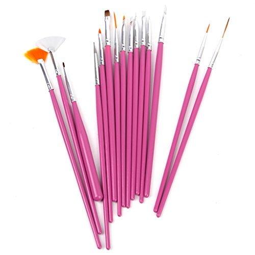 44jiu44-15-x-nail-art-design-painting-pen-brush-set-pink