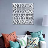 10x Modern 3D Mirror Geometric Acrylic Wall Sticker Decor Art DIY Home