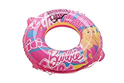 Barbie Swimming Combo Set of Ring and Goggle, Pink/Blue