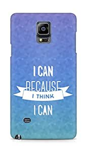 Amez I Can because I Think Back Cover For Samsung Galaxy Note 4