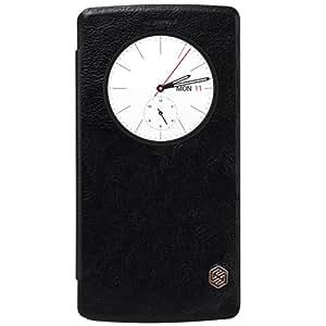 Unique Design Nillkin Leather Flip Cover For Samsung Galaxy S7 Edge-Black