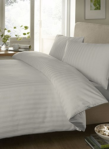 Bedding Spa 500 Thread Count Egyptian Cotton Sheet Set With Duvet Cover Stripe ( Queen , Ivory ) front-388244