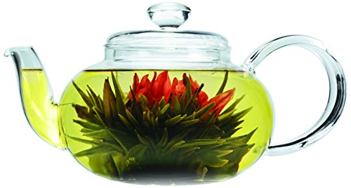 Primula Lea Teapot With Infuser And 2 Flowering Teas, 22-Ounce