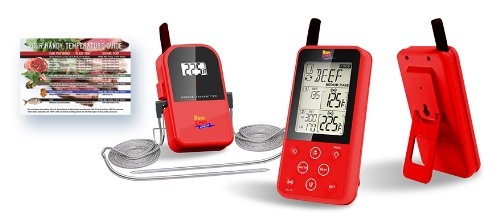 Maverick ET-733 Long Range Digital Wireless Meat Thermometer Set Dual Probe and Dual Temperature Monitoring With Meat Temperature Magnet Guide - Red (Maverick Meat Thermometer compare prices)