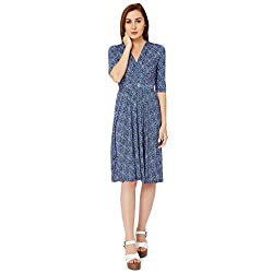 Avirate Women's Dress (AVDR103188_Blue _16)