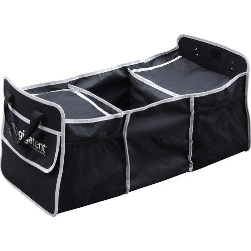 Collapsible Folding Flat Trunk Cooler Bag Organizer Mesh Pockets, Black front-1035171