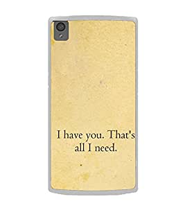 Love Quote 2D Hard Polycarbonate Designer Back Case Cover for OnePlus X :: One Plus X :: One+X