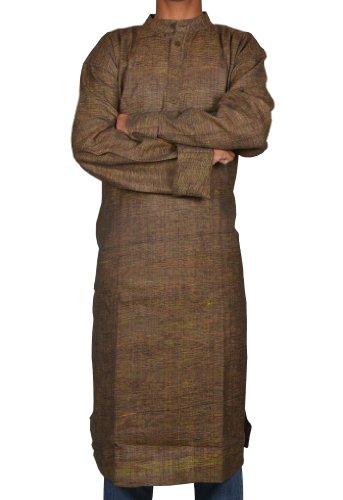 Handmade Casual Wear Indian Khadi Long Mens Kurta Fabric For Winter & Summers Size-4XL