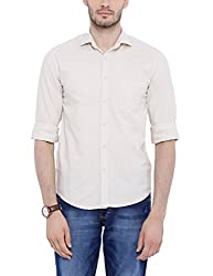 Bandit Khaki Slim fit Linen Solid Shirts