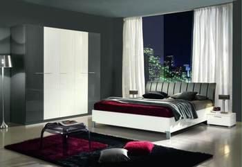 Chambre Adulte Complete Design Candide Coloris Blanc Amp Gris Laque L 160 X P 200 Cm L 228 X P 57 X H 217 Cm Jnhrcwua 38