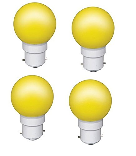 0.5 W LED Light Bulbs Yellow (Set of 4)