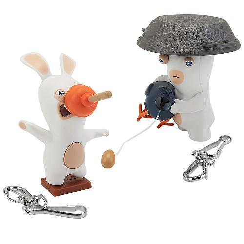 Nickelodeon Rabbids Invasion 3 inch Action Figure 2 Pack Chicken Surprise and Plunger Face - 1