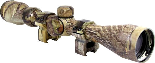 Aim Optics 3-9X40 Camo Coated Duplex Scope  Rings,