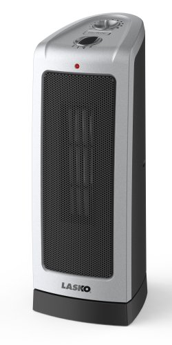Lasko 5307 Oscillating Ceramic Tower Heater, 16-Inch
