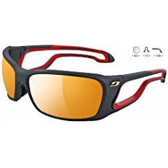 Buy Julbo Zebra Pipeline 4283122 BLACK RED Cat. 2-4 Performance Sunglasses by Julbo