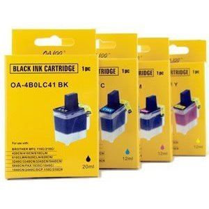 PREMIUM COMPATIBLE Brother LC-41 4-Color Ink Cartridge. The Generic Brother LC-41 Color Value Pack contains black, cyan, magenta, yellow color cartridge.