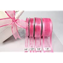 Hot Pink Organza Ribbon With Satin Edge-25 Yards X 7/8 Inches
