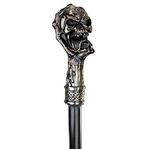Design Toscano The Dragons Thorne Collection Death's Grip Skull and Claw Walking Stick