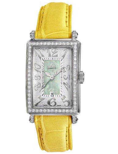Gevril Women's 7246NV.2 Green Mother-of-Pearl Genuine Alligator Strap Watch