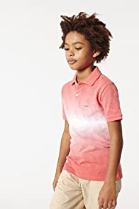 Boy's Short Sleeve Bar Stripe Tie Dye Pique Polo