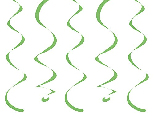 "Creative Converting 10 Count Dizzy Danglers, 18"", Fresh Lime"