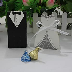 Wedding Gift List Amazon : Pairs)Bride Groom Cheap Wedding Party Favors Candy Boxes Wedding Gift ...