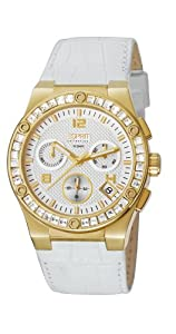 ESPRIT Collection - EL101822F06 - Montre Femme - Quartz - Chronographe - Bracelet Cuir Blanc