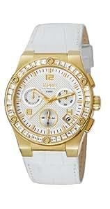 ESPRIT Collection - EL101822F06 - Montre Femme - Quartz - Chronographe - Bracelet Cuir Blanc