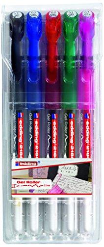 Edding 2185 Crystaljelly - Estuche con bolígrafos de tinta gel metalizada (5 unidades)