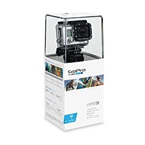 GoPro HERO3 White Edition - Videocámara de 5 Mp (estabilizador de imagen óptico, vídeo Full HD 1080p, resistente al agua 60m, WiFi) color blanco