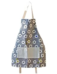 ASD Living for The Home Organic Poppies Adult Butcher Apron, Grey by ASD Living
