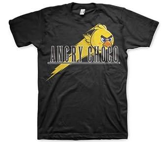 Japanese Anime T-Shirt - Angry Choco Parody Anime Tee shirt (Men's T-Shirt) Otaku T-Shirts