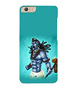 printtech Lord God Shiva Cartoon Back Case Cover for Micromax Canvas Knight 2 E471