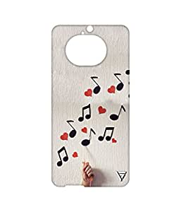 Vogueshell Musical Pattern Printed Symmetry PRO Series Hard Back Case for HTC One M9 Plus