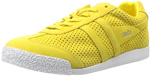 Gola Women's Harrier Squared Fashion Sneaker, Yellow, 10 M US